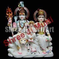 Marble Shiva Parvati Statue 02