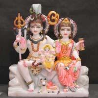 Marble Shiva Parvati Statue 03