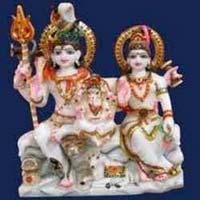 Marble Shiva Parvati Statue 04