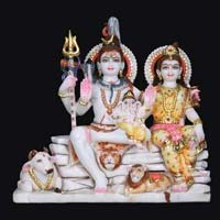 Marble Shiva Parvati Statue 06