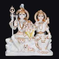 Marble Shiva Parvati Statue 07