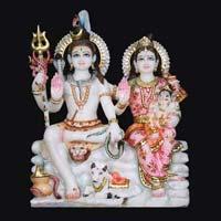 Marble Shiva Parvati Statue 08
