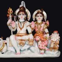 Marble Shiva Parvati Statue 11