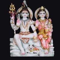 Marble Shiva Parvati Statue 12