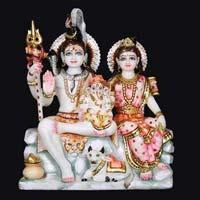 Marble Shiva Parvati Statue 13
