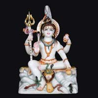 Marble Shiva Statue 06