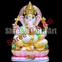 White Marble Ganesh Statue 01