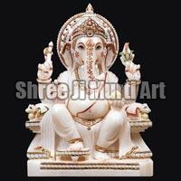 White Marble Ganesh Statue 02
