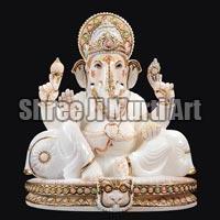 White Marble Ganesh Statue 03
