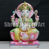 White Marble Ganesh Statue 04