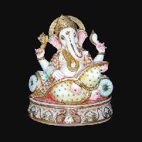 White Marble Ganesh Statue 06