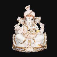 White Marble Ganesh Statue 07