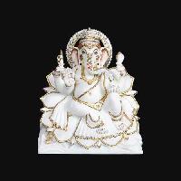 White Marble Ganesh Statue 08