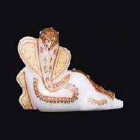 White Marble Ganesh Statue 10