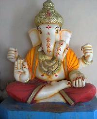 White Marble Ganesh Statue 17