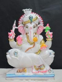 White Marble Ganesh Statue 18