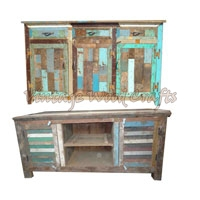 Antique Color Console