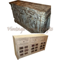 Antique Finish Wooden Sideboard