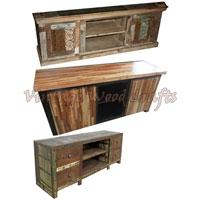 Antique Wooden TV Unit