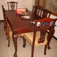Wooden Contemporary Design Dining Table Set