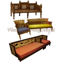 Wooden Indian Style Sofa