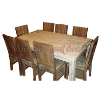 Wooden Italian Dining Table Set