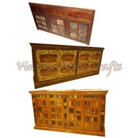 Wooden Sideboard with Patches and From Old Gates