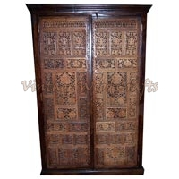 Wooden Wardrobe with Hand Work