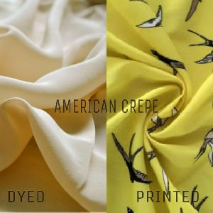 Polyester American Crepe Dyed And Printed Fabric
