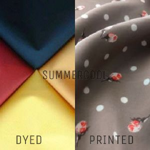Polyester Summer Cool Dyed And Printed Fabric