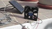 Solar Cell with Fan