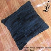 Areezo Sheep Hide Cushion (Black)