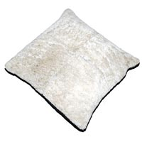 Sheep Hair Cushion (White)