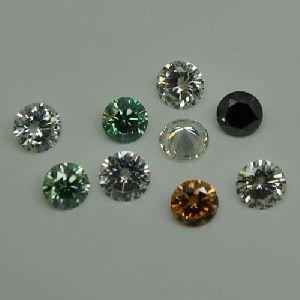 Fancy Colored Moissanite Diamonds
