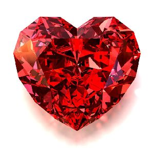 Red Heart Cut Moissainate Diamond