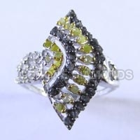 Natural Rough Uncut Diamond Ring