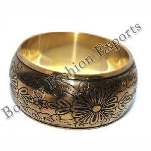 Carved Brass Bangles
