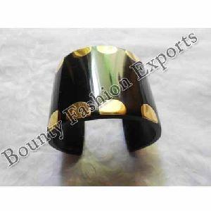 Resin Brass Black Cuff Bracelets