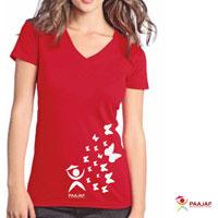 Ladies V Neck T-Shirt 01