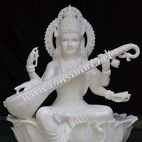Marble Saraswati Mata Statues