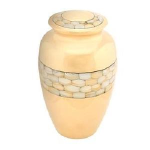 PDA-223 MOP Brass Memorial Urn