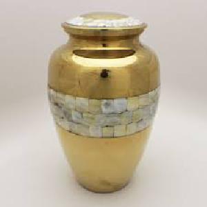 PDA-224 MOP Brass Memorial Urn