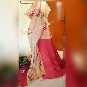 Block and Hand Printed Bishnupur Silk Sarees 04