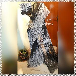 Block and Screen Printed Kota Doria Cotton Sarees 08