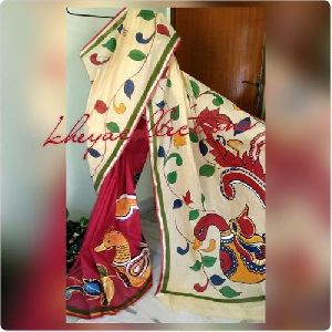 Hand Painted Bangladeshi Cotton Sarees