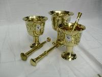 Brass Mortar Pestle