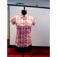 Ladies Cotton Half Sleeve Shirts