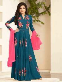 PeacockGreen Designer Anarkali suit