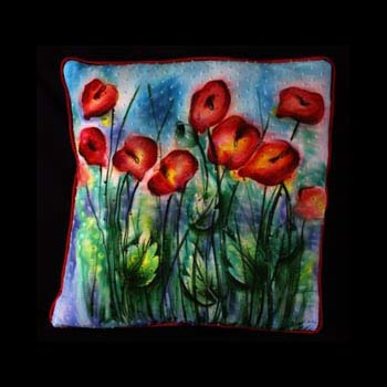 Hand Painted Cotton Cushion