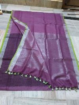 Pure Linen Saree 01